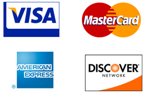 All Four Major Credit Cards Accepted