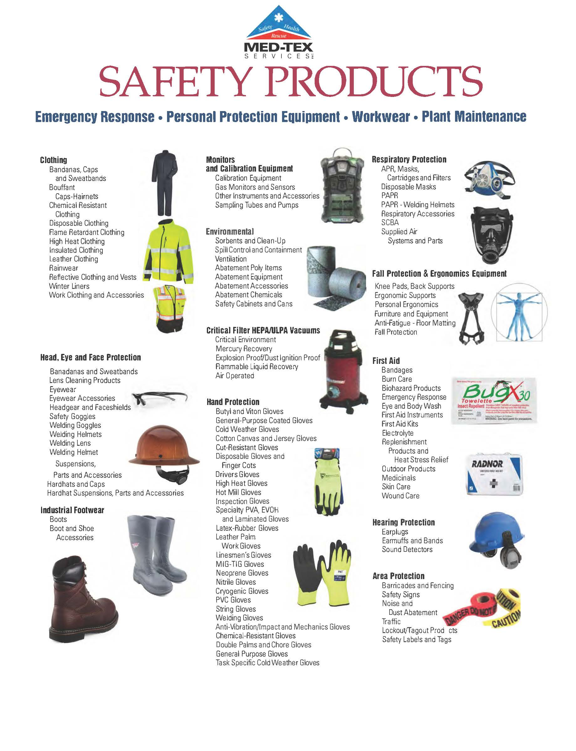 Safety Equipment - Med-Tex Services